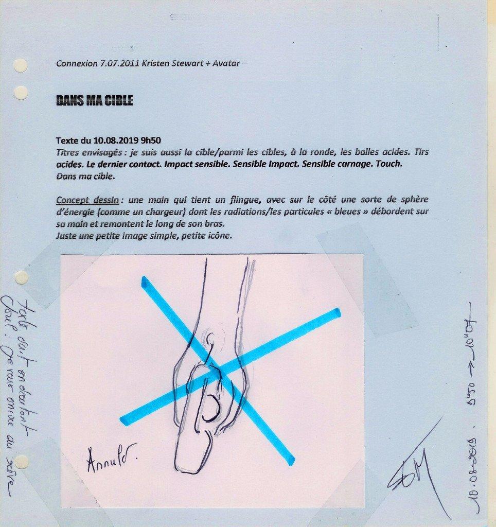 2019.08.10 dans ma cible (scan5B) concept visuel notes