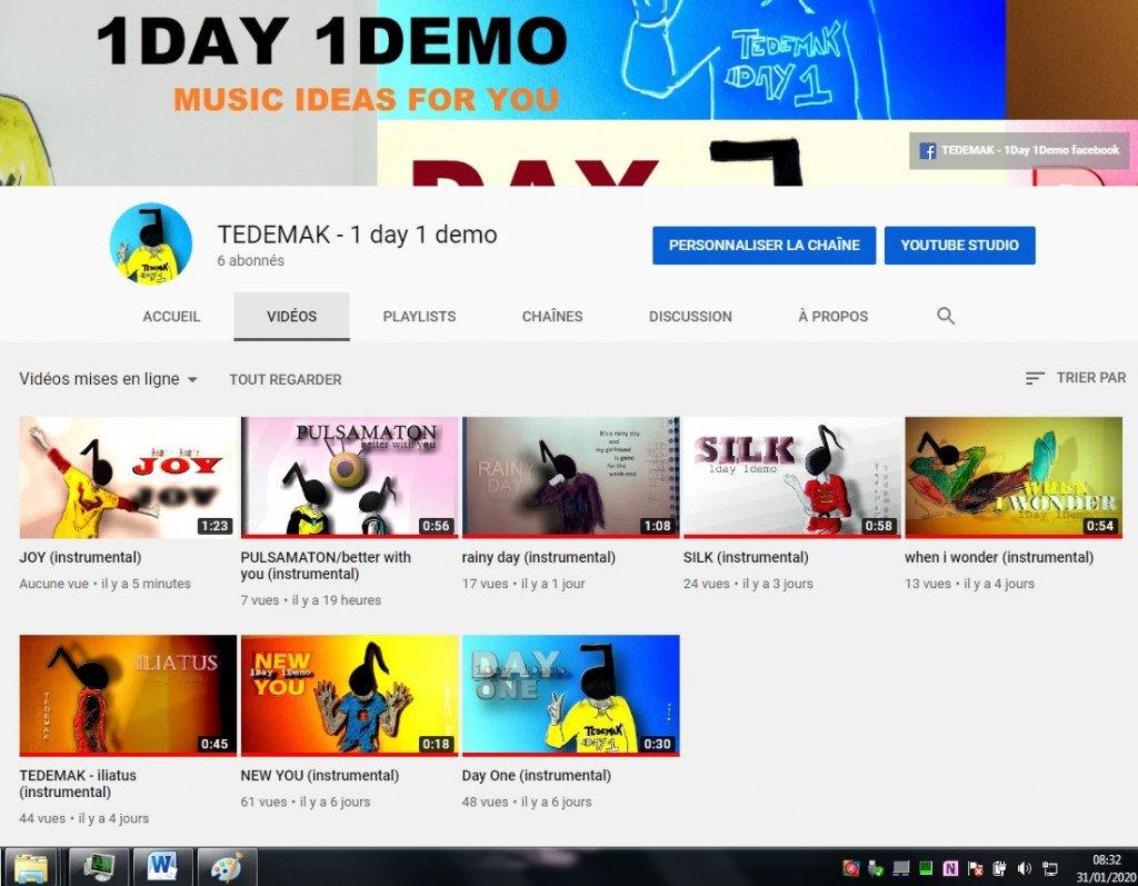 TEDEMAK videos - youtube channel (31.01.2020)
